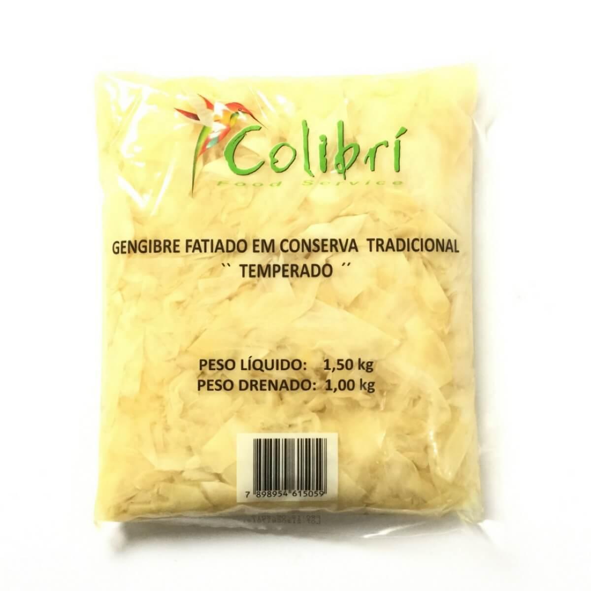 GENGIBRE  TEMPERADO COLIBRI CX  C/ 10 PCTES DE 1,50 KG
