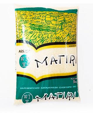 ARROZ MATIRI GRÃO CURTO - PCTE 5 KG