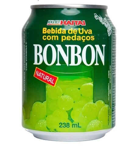 SUCO DE UVA C/ PEDAÇOS - BONBON CX 12 X 238 ML